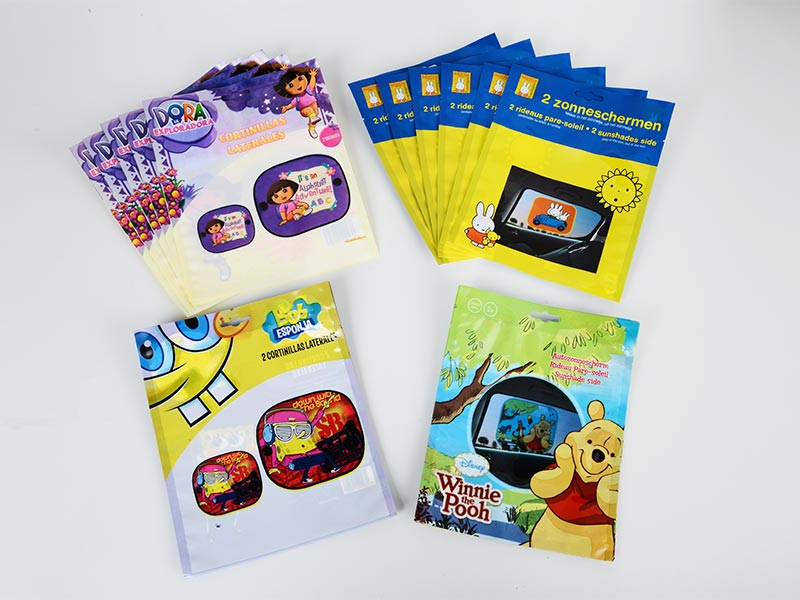 Trilaterally sealed glossy printing composite bag 002